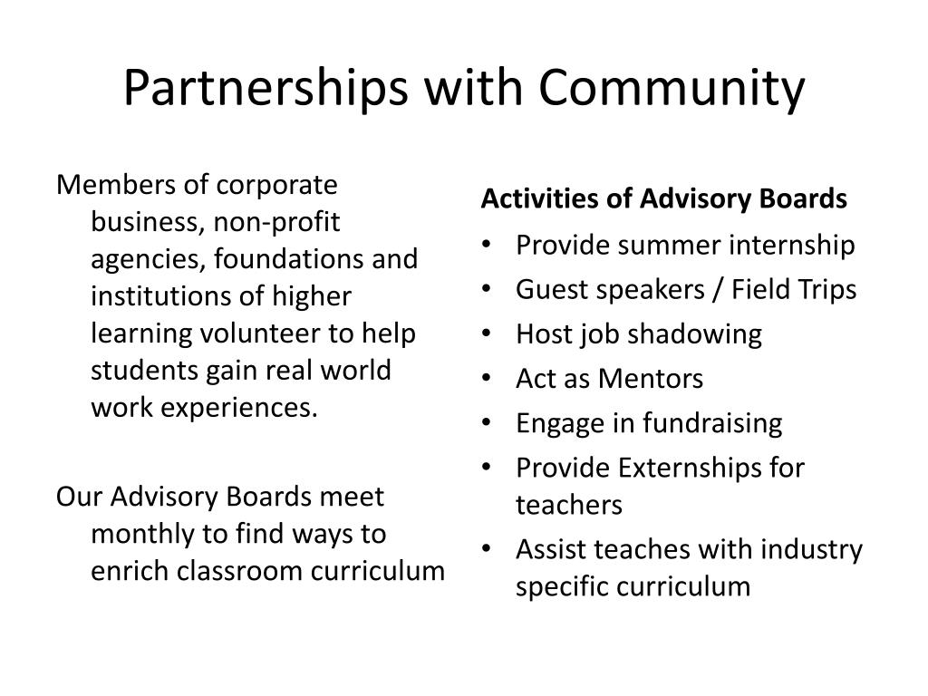 Partnerships with Community