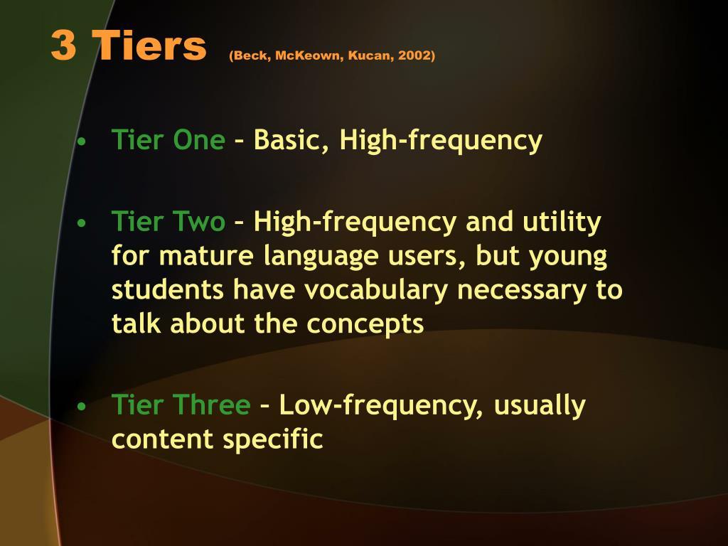 3 Tiers