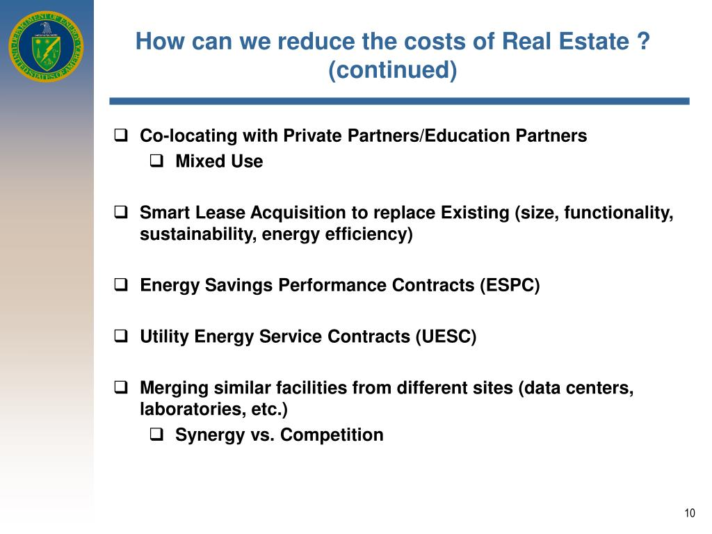How can we reduce the costs of Real Estate ?