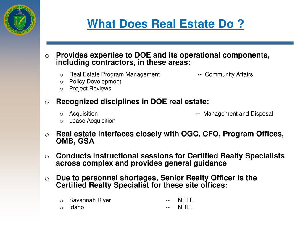 What Does Real Estate Do ?