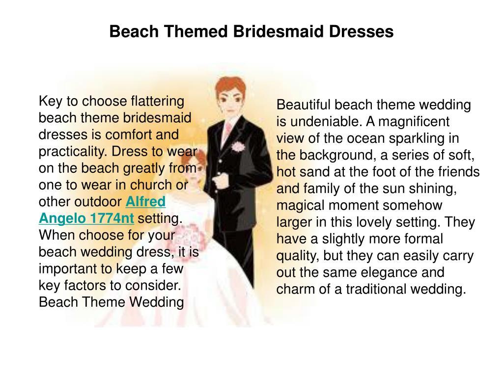 Beach Themed Bridesmaid Dresses