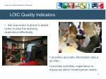 lotc quality indicators