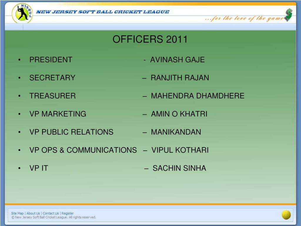 OFFICERS 2011