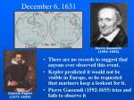 december 6 1631