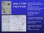 june 3 1769 cap n cook