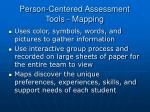 person centered assessment tools mapping