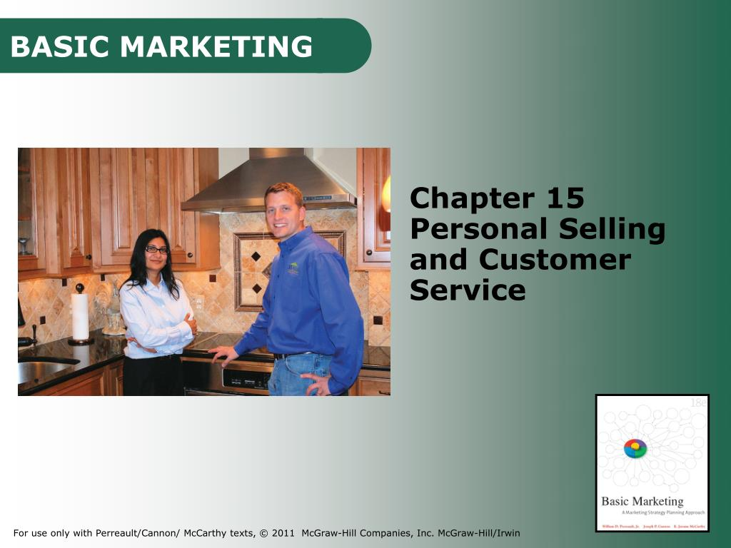 PPT - Chapter 15 Personal Selling and Customer Service