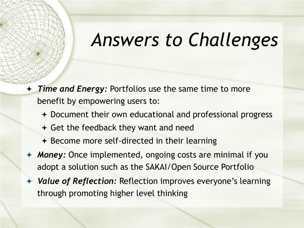 Answers to Challenges