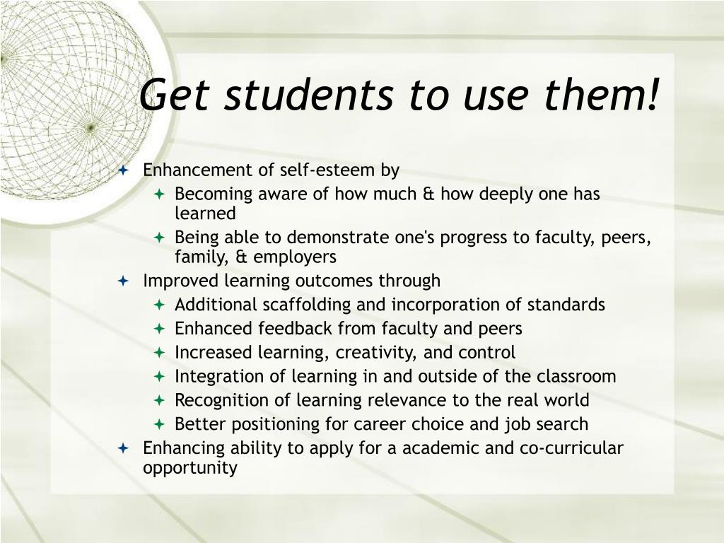 Get students to use them!