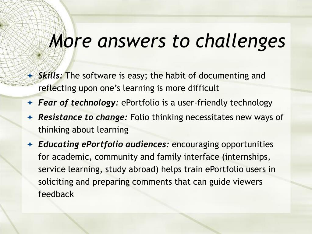 More answers to challenges