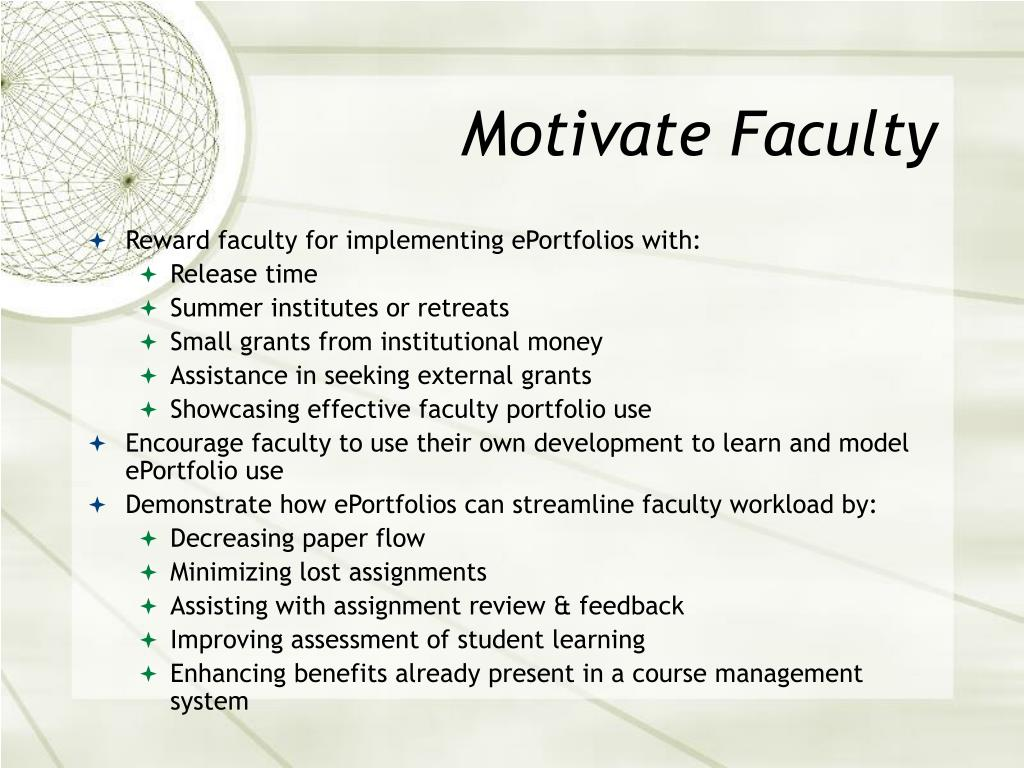 Motivate Faculty