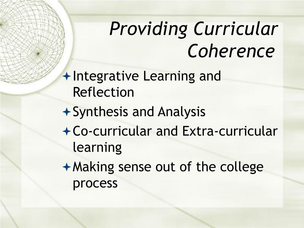 Providing Curricular Coherence