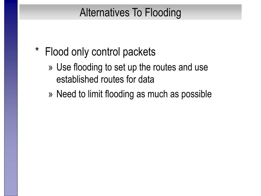 Alternatives To Flooding