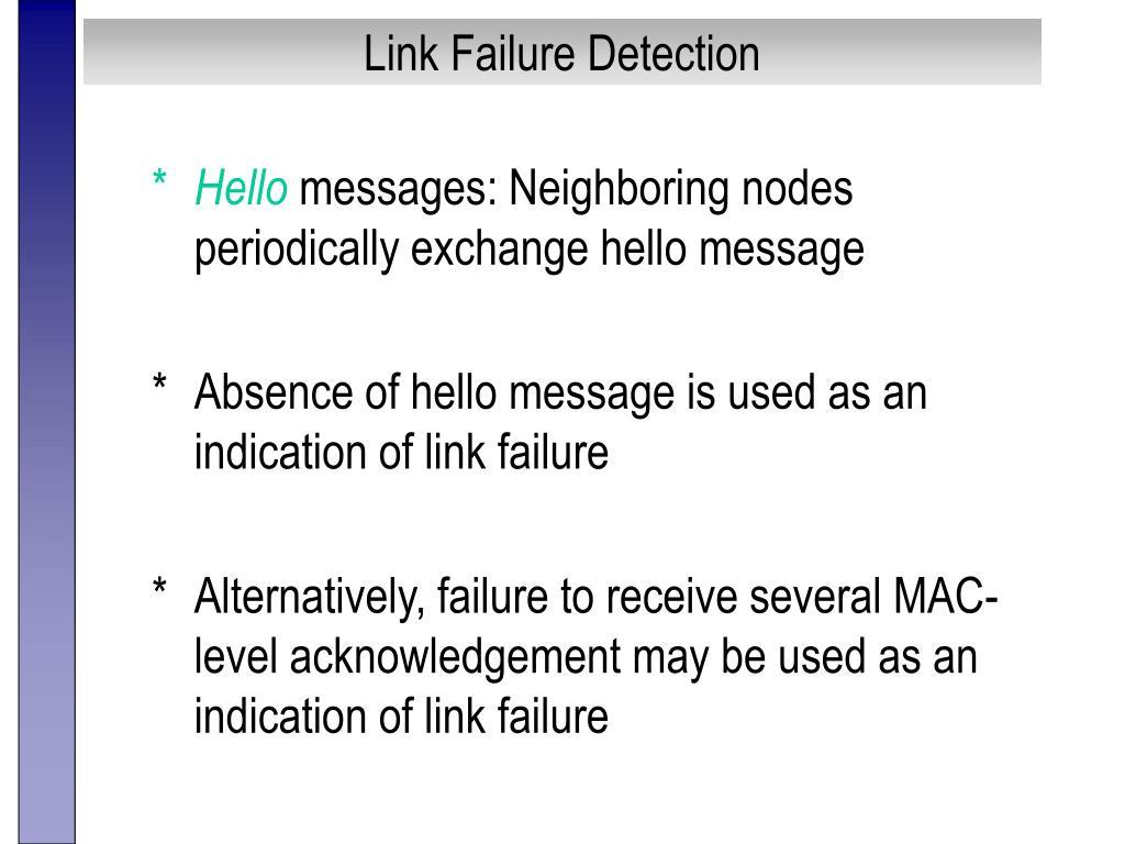 Link Failure Detection