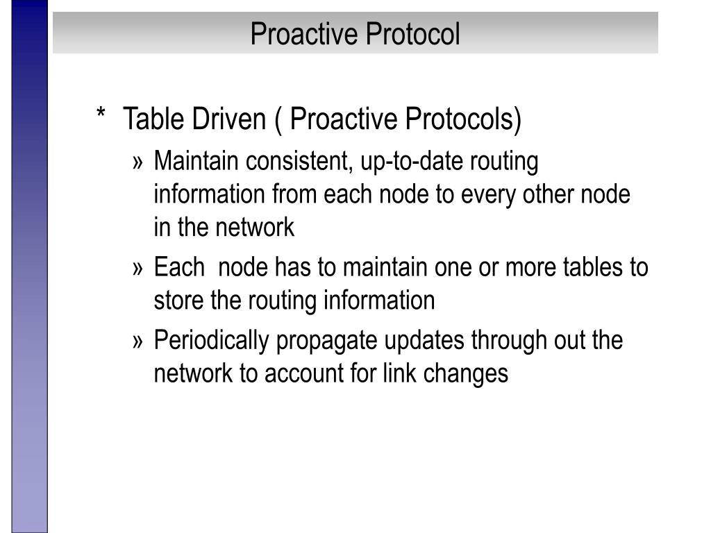 Proactive Protocol