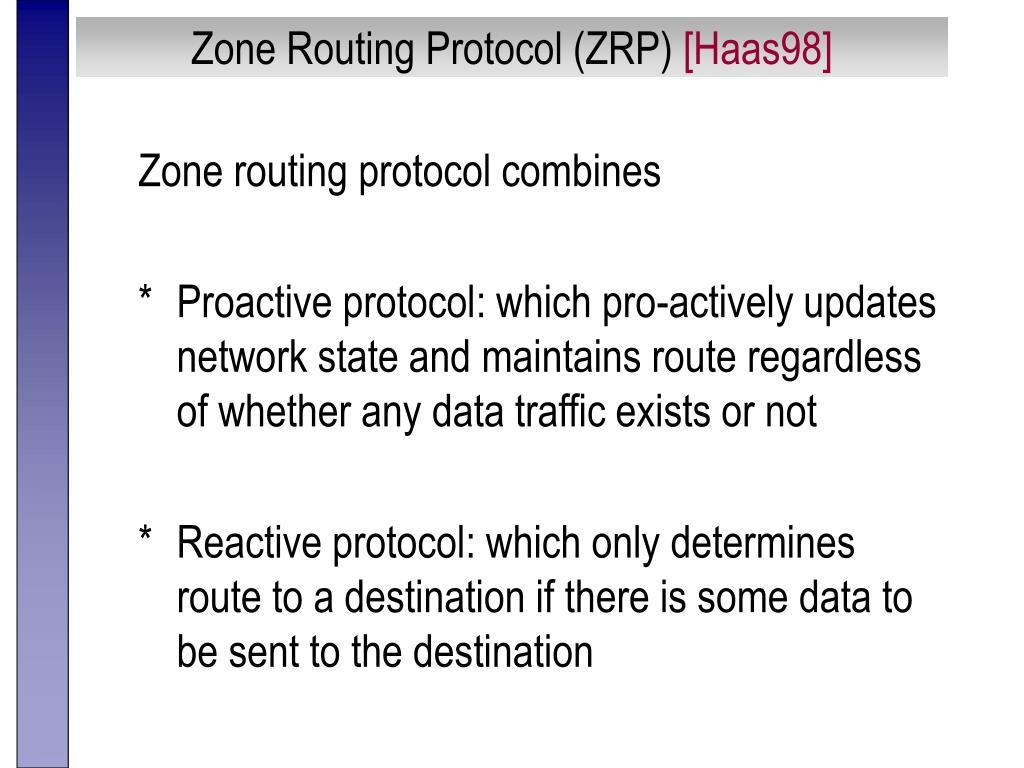 Zone Routing Protocol (ZRP)