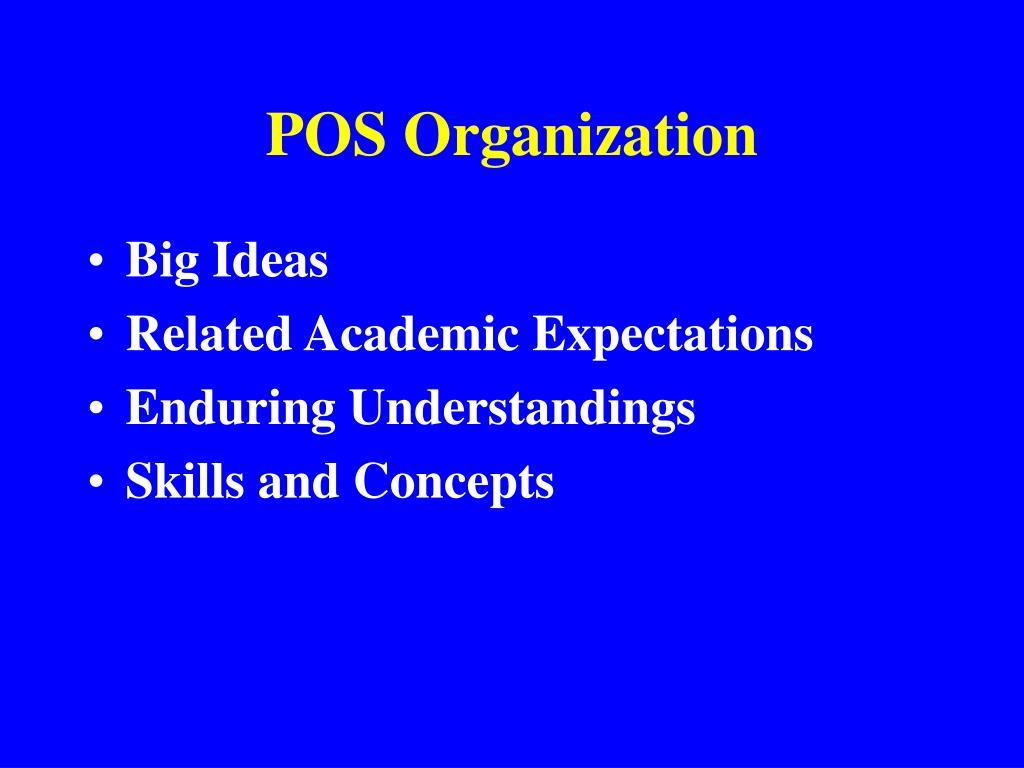 POS Organization