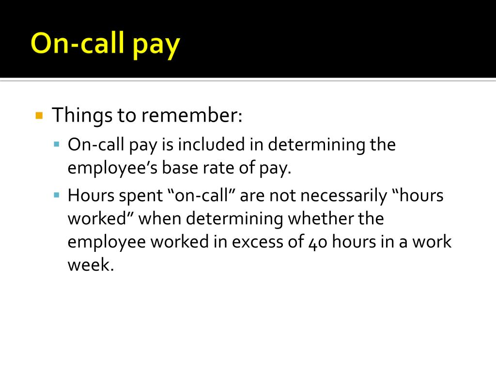 On-call pay