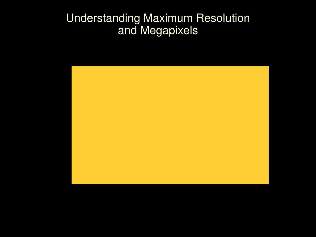 Understanding Maximum Resolution