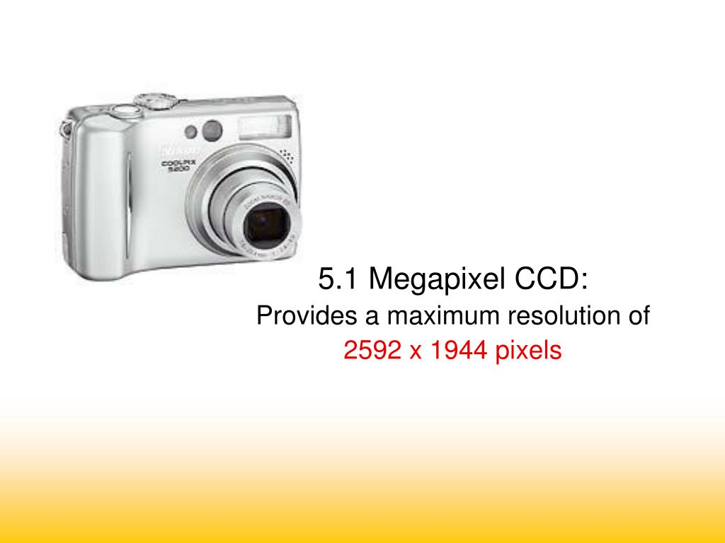 5.1 Megapixel CCD: