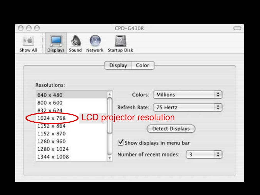 LCD projector resolution