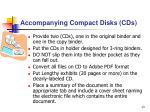 accompanying compact disks cds