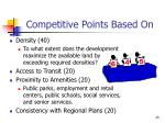 competitive points based on25