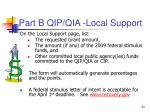 part b qip qia local support