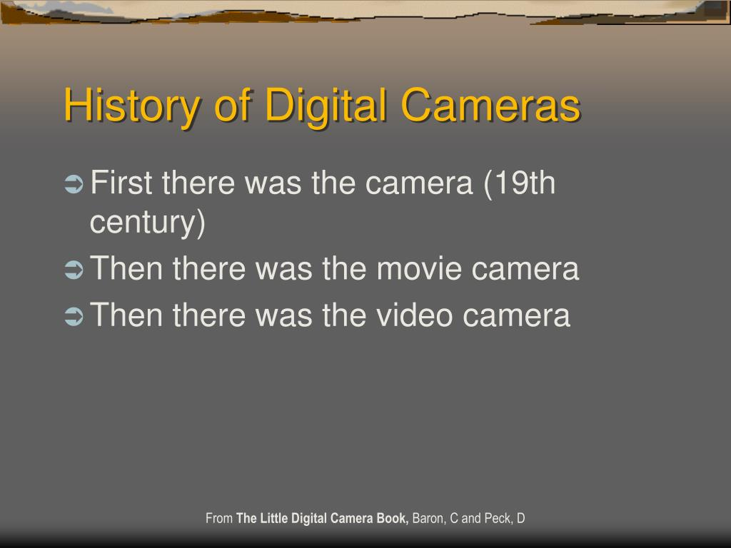 history of digital cameras l.