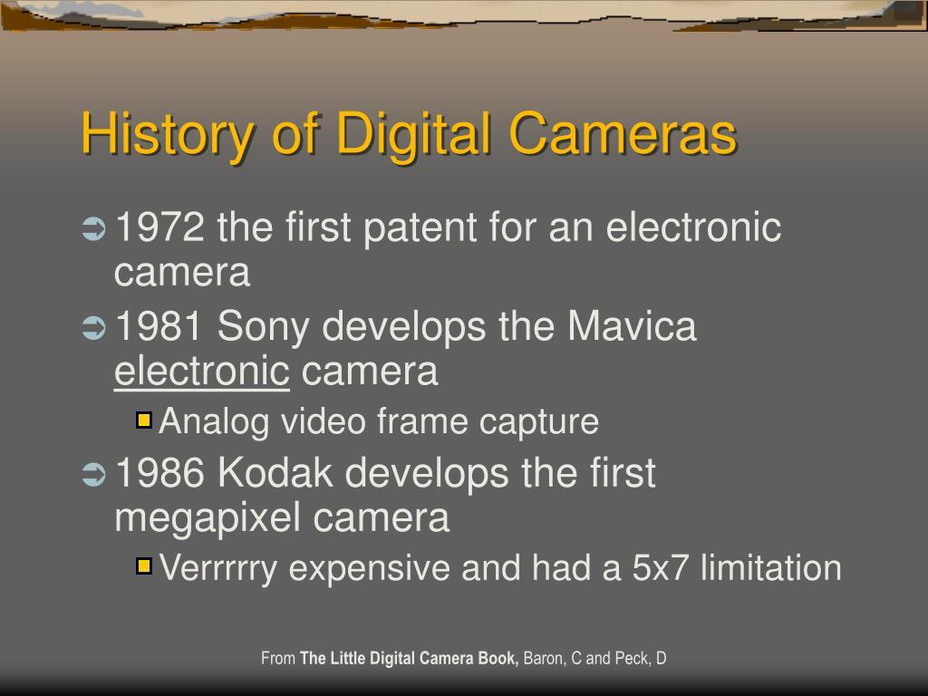 History of Digital Cameras