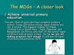 the mdgs a closer look11