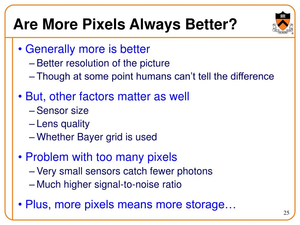 Are More Pixels Always Better?