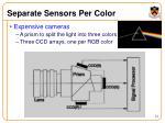 separate sensors per color