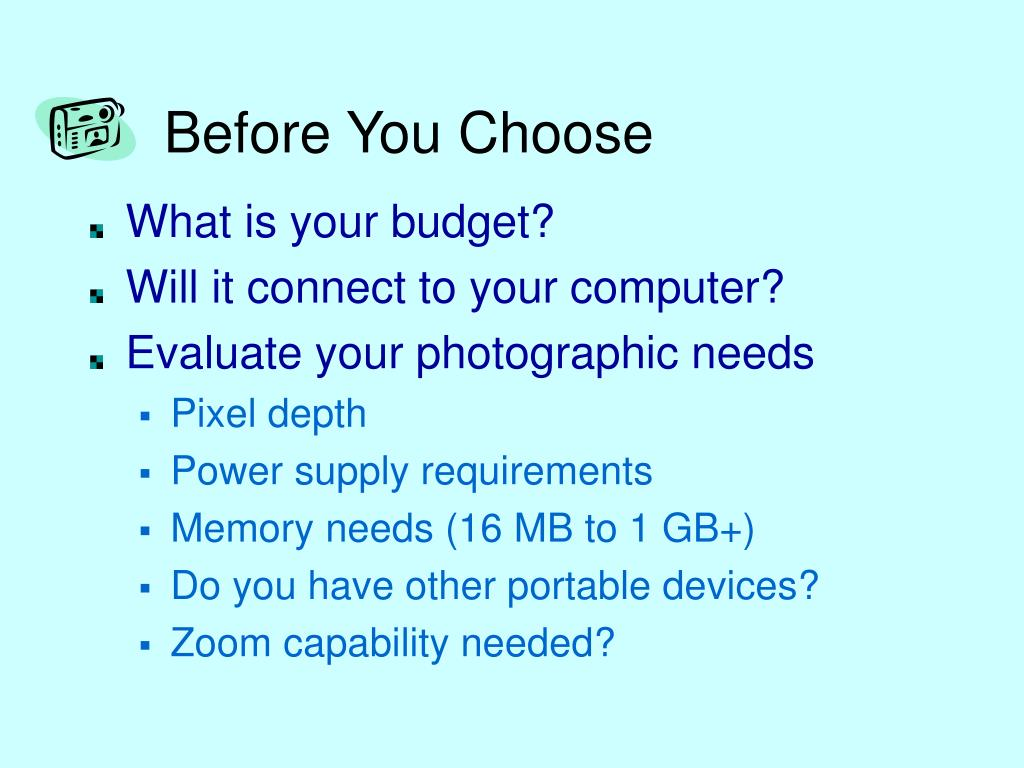 Before You Choose