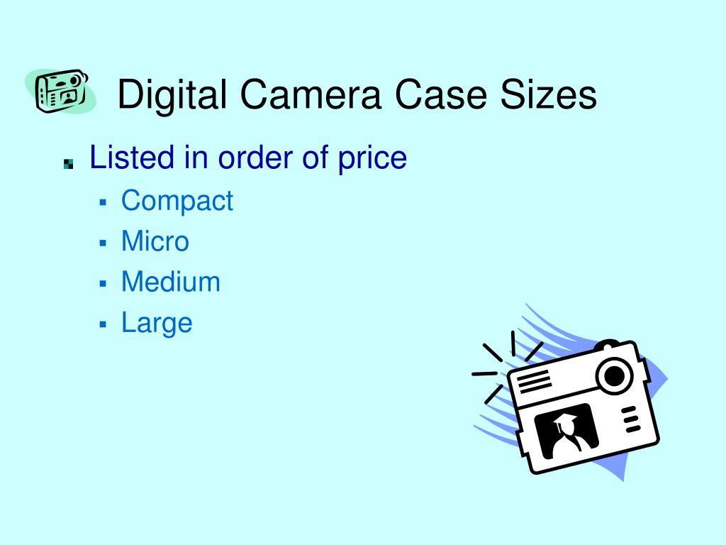 Digital Camera Case Sizes