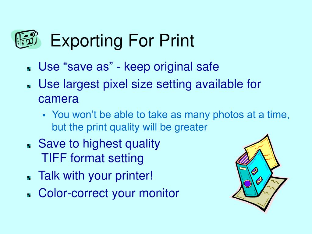 Exporting For Print