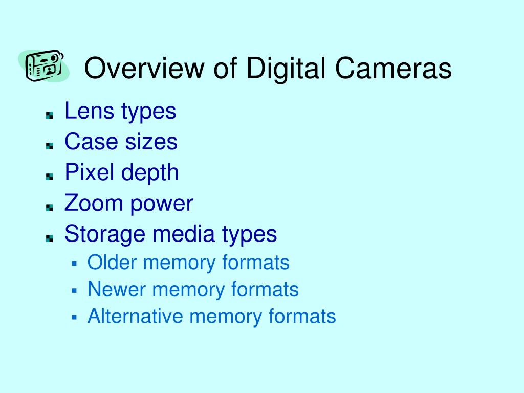 Overview of Digital Cameras
