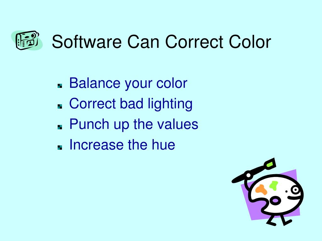 Software Can Correct Color