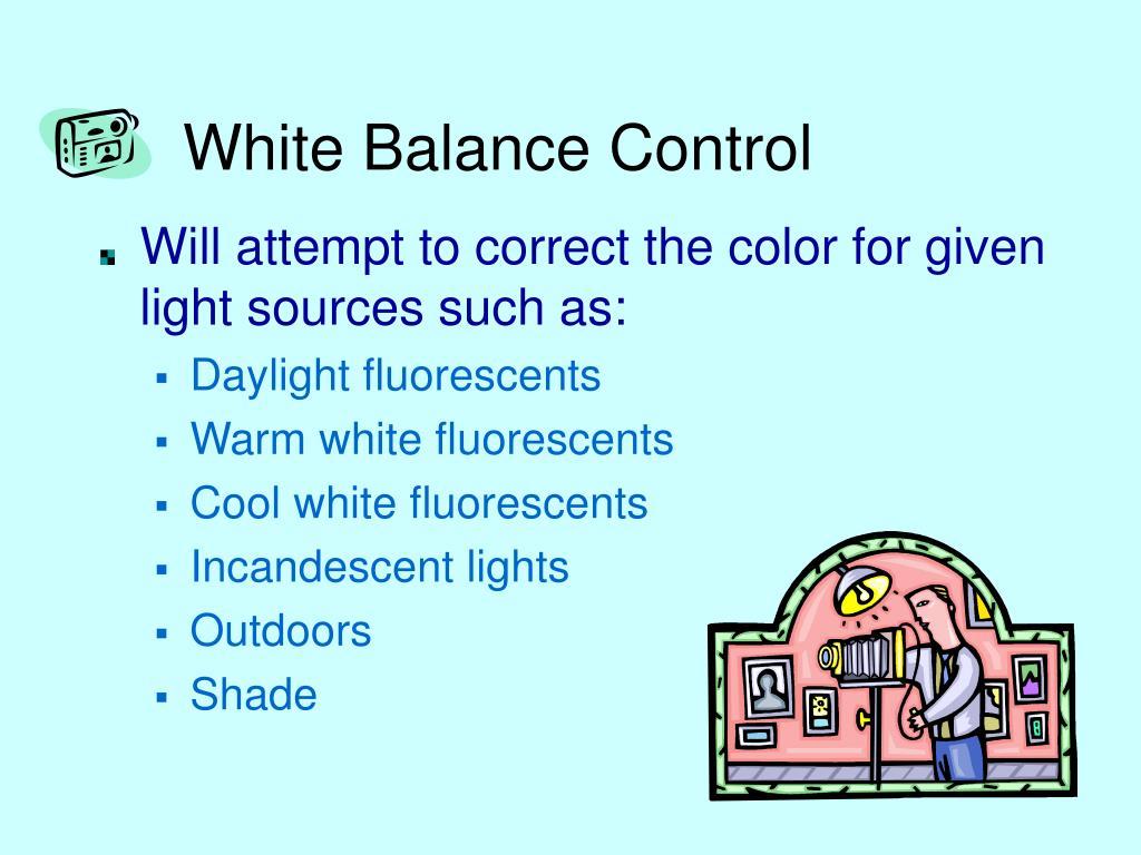 White Balance Control