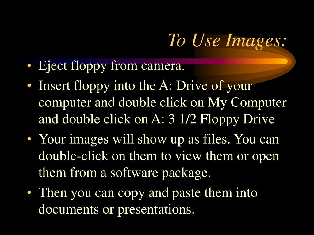 To Use Images: