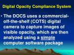 digital opacity compliance system13