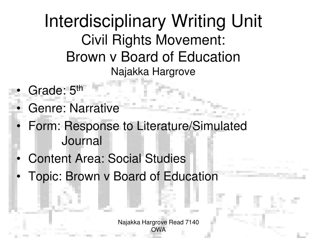 brown vs board of education significance essay Brown vs board of education essay examples  the significant changes in the educational system of america 479 words 1 page a portrayal of a struggle against racial prejudice in the movie separate but equal  brown v board of education - a landmark case in the history of american education 1,397 words.