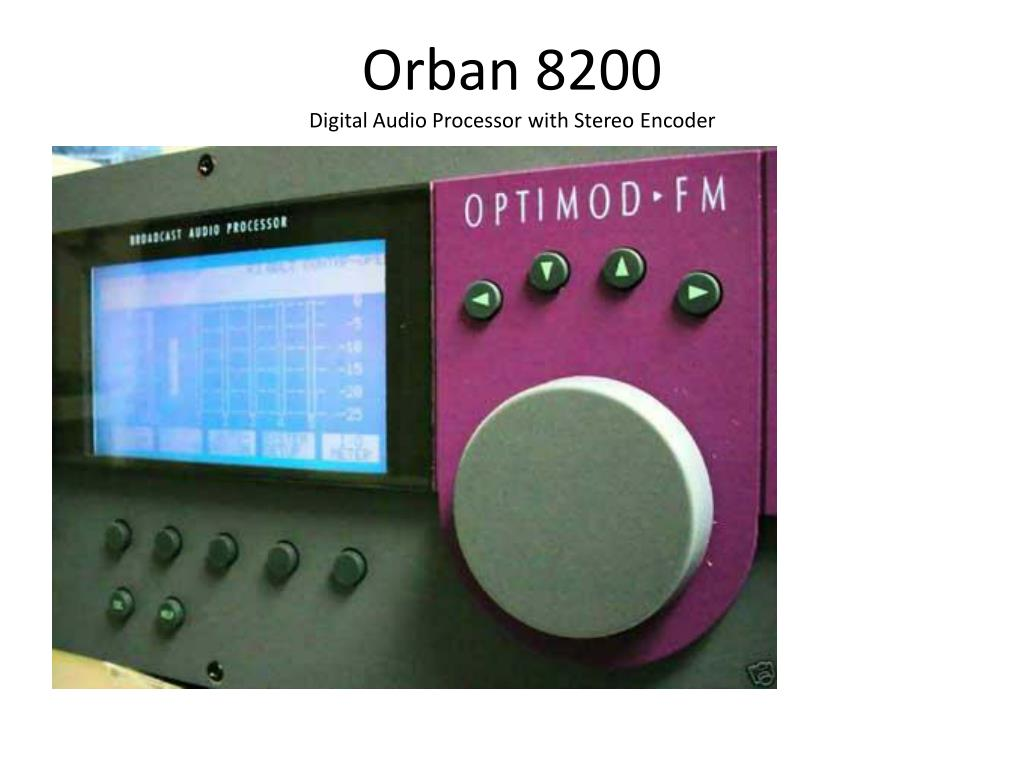 orban 8200 digital audio processor with stereo encoder l.