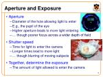 aperture and exposure