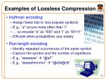 examples of lossless compression