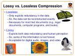 lossy vs lossless compression