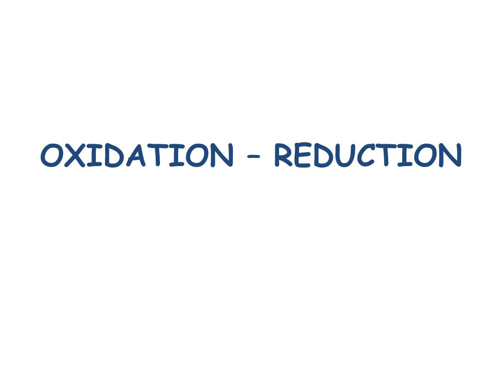 oxidation reduction l.