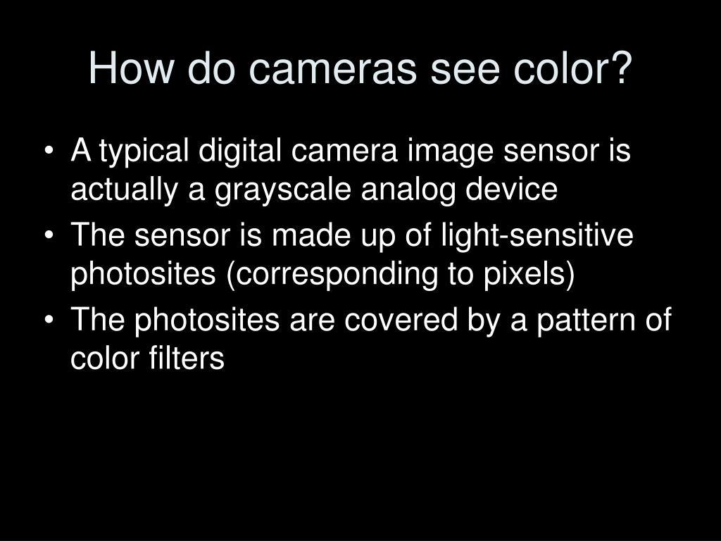 How do cameras see color?