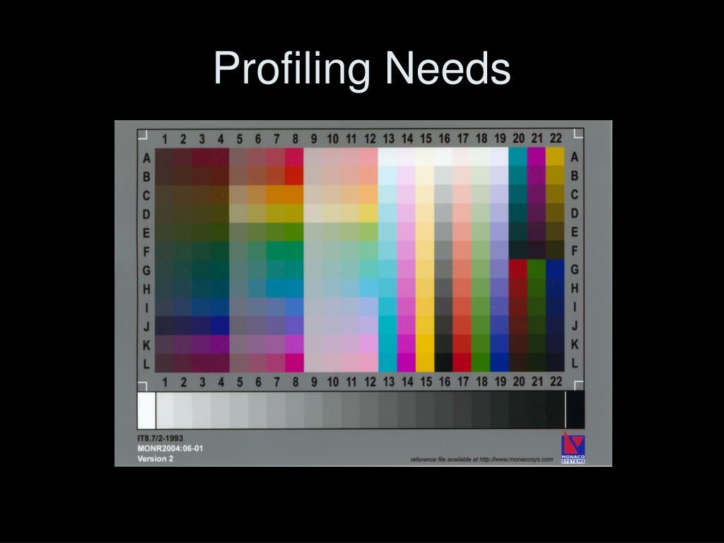 Profiling Needs