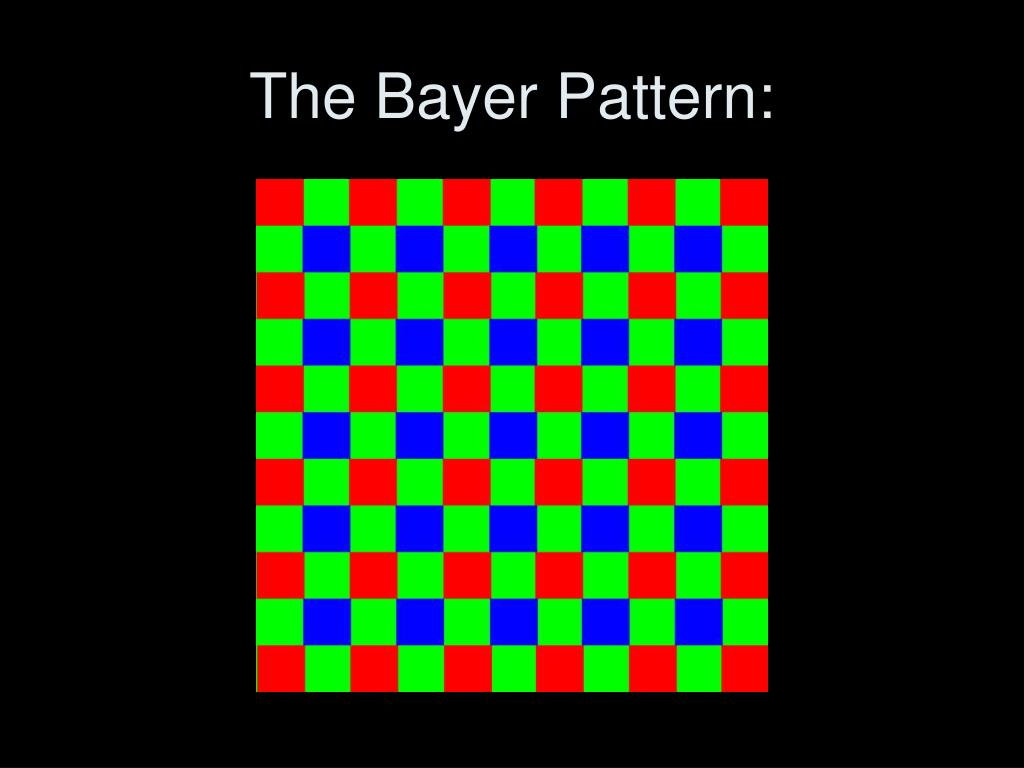 The Bayer Pattern: